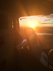Näkymä FH51:n takapenkiltä lennon aikana.